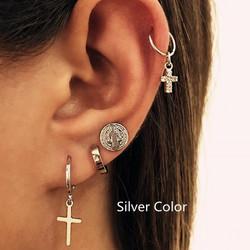 Korvakorut, PAPARAZZI|Set of Trendy Silver Earrings