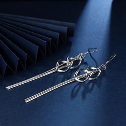 Korvakorut, FRENCH RIVIERA|Small Modern Twist Earrings in Silver