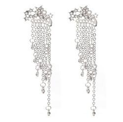 Korvakorut, PAPARAZZI|Trendy Star Earrings with Chains