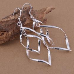 Korvakorut, FRENCH RIVIERA|Twist Earrings in Silver