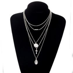 Kerroskaulakoru, PAPARAZZI|Necklace with Cross and Madonna in Silver