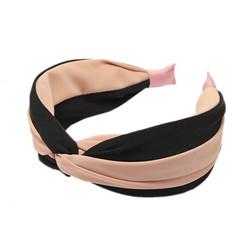 Hiuspanta|SUGAR SUGAR, Wide Knot Stripy Hairband in Apricot