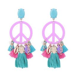 Korvakorut, PAPARAZZI|Peace Earrings in Pink