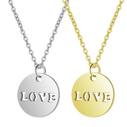 Kirurginteräskaulakoru, Simple Love Necklace in Two Colours