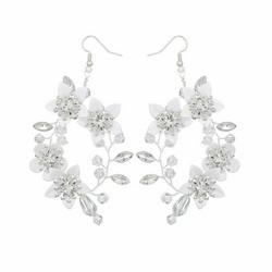 Juhlakorvakorut, ROMANCE|Delicate Twine Earrings in Silver