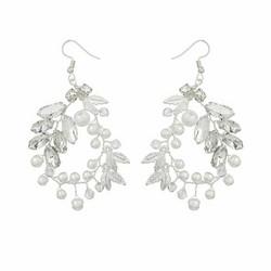 Juhlakorvakorut, ROMANCE|Delicate Twine Earrings in Silver with Pearls