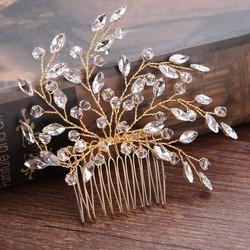 Hiuskoru, hiuskampa ROMANCE| Sparkly Hairpiece in Gold
