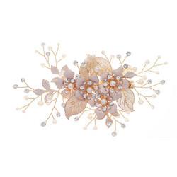 Hiuskoru, hiusklipsi ROMANCE, Gorgeous Champange Hairclip with Pearls
