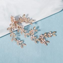 Hiuskoru, hiusklipsi ROMANCE, Gold Leaf Hairpiece with Flowers