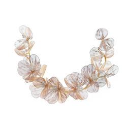 Hiuskoru, köynnös ROMANCE, Modern Rosegold Flower Hairpiece