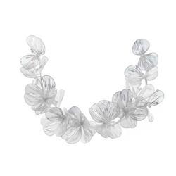 Hiuskoru, köynnös ROMANCE, Modern Silver Flower Hairpiece