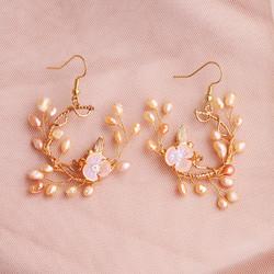 Juhlakorvakorut, ROMANCE|Romantic Twine Earrings in Gold