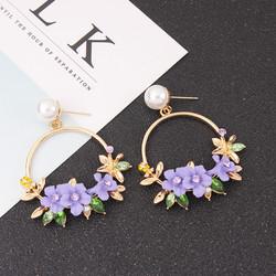 Korvakorut, FRENCH RIVIERA|Pretty Flower Earrings in Lavender