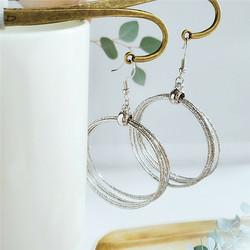 Korvakorut, FRENCH RIVIERA|Multilayer Silver Hoop Earrings