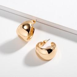 Korvakorut, FRENCH RIVIERA|Wide Hoops in Gold -kullanväriset renkaat