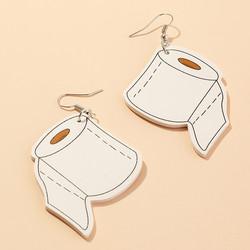 Korvakorut, PAPARAZZI|Large Toilet Roll Earrings