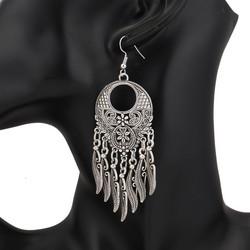 Korvakorut, Large Bohemian Earrings in Antique Silver