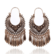 Korvakorut, Bohemian Hanger Earrings in Antique Bronze with Stones