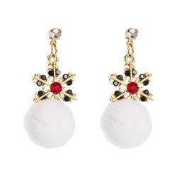 Korvakorut, Pompom Snowflake Earrings in Gold -lumihiutalekorvakorut