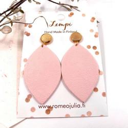 LEMPI-korvakorut, Iisa (nappi, vaaleanpunainen)