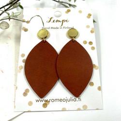 LEMPI-korvakorut, Iisa (nappi, ruosteenpunainen)