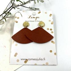 LEMPI-korvakorut, Kolmio (nappi, ruosteenpunainen)
