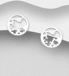 Hopeiset korvanapit, World's Map -maailmankarttakorvakorut