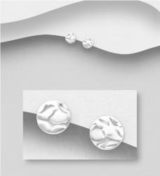 Hopeiset korvanapit, Circle with Texture -ympyräkorvakorut