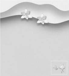 Hopeanapit, PREMIUM COLLECTION|Delicate Matt Flower Earstuds