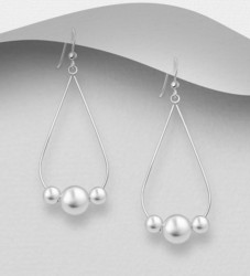 Hopeakorvakorut, PREMIUM COLLECTION|Minimalistic Teardrop Earrings