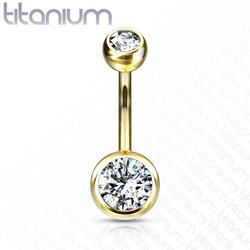 Napakoru, Implant Grade Titanium Double Crystal in Gold