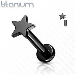 Rustokoru/traguskoru, Implant Grade Titanium Mini Black Star