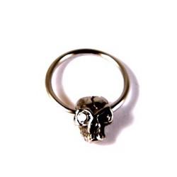 Diamond Skull-lävistysrengas 1,6mm