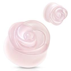 Plugi 8mm, Rose Quartz Carved Plug (ruusukvartsi)