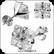 Kirurginteräs korvanapit, kirkas neliö