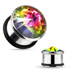 Plugi, Multicolor Crystal 8mm