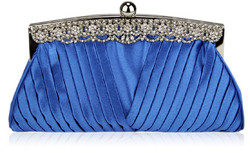 Iltalaukku, Royal Blue with Crystal Decoration
