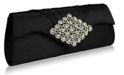 Iltalaukku, Black Satin Clutch