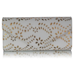 Juhlalaukku, White and Gold Lace