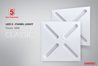 LED X-Paneelivalaisin, 30 W, 600x600mm