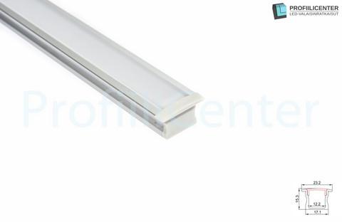 LED-alumiiniprofiili ALU09, 1 m