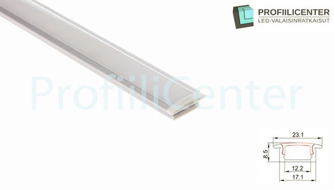 LED-alumiiniprofiili ALU03, 2.5 m