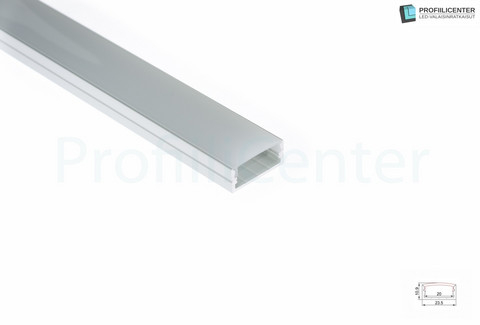 LED-alumiiniprofiili ALU011, 1 m