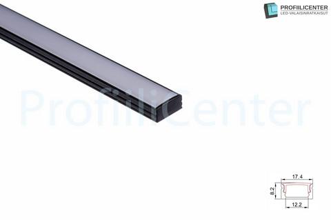 LED-alumiiniprofiili ALU01B, 2 m