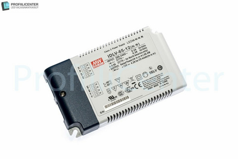 Himmennettävä Mean Well LED Virtalähde 12VDC 65W
