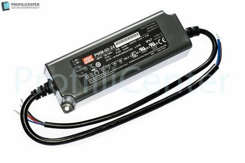 Himmennettävä Mean Well LED Virtalähde 24VDC 60W