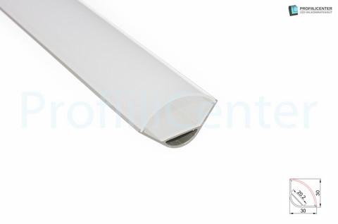 LED-alumiiniprofiili ALU015, 1 m