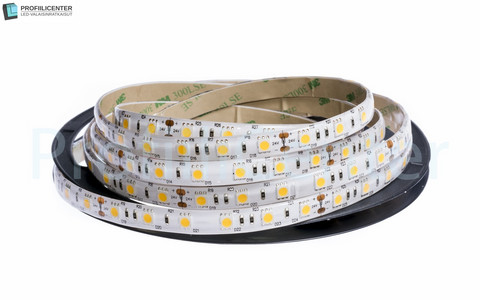 LED-nauha 5m (14.4 W/m) neutr.valk., 24V IP65 (4500K)