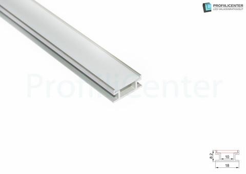 LED-alumiiniprofiili ALU018, 2 m