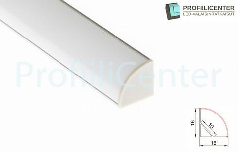LED-alumiiniprofiili ALU02, 0.6 m